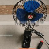 Special design auto oscilating car cool fan dc 12v with clip
