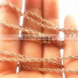 SN013 Fashion and high quality rose gold plated stainless steel necklace china wholesale