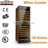 Shentop 168-bottle humidity wine cooler with luxury touch STH-G168UA steel handle refrigerated wine dispenser Compressor Cooler