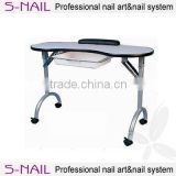 HOT portable nail manicure Table, Bnail salon manicure table, double nail table