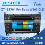 High quality of 7inch car Accessories for Mercedes-Benz W203 2004-2007 with WINCE A8 system 3G WiFi OBDII DVR function