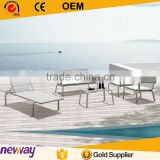 Euro White Modern Sofas and Armchairs Artificial Rattan Garden Furniture                                                                         Quality Choice