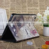 Retro Color printing Multi-Angle Leather Cover Case for New iPad Mini, with stand
