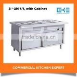 China Restaurant Large Capacity With 3 Pans Cold or Hot Buffet Bain Marie