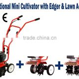 Y2001 Multi- Function Chinese Cultivator/ Tiller cultivator with Edger kits and Aerator kits