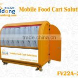 Professional manufacturers mainland scooter cart/ mobile food vending van/fried ice cream rolls trailer