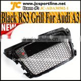 Glossy Black Radiator Grill Genuine Sportback RS3 Front Grille For Audi A3 S3 8P SFG 08~12