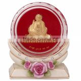 crystal paper weight inside 3d gold foil gurunanak design selling in cheap price