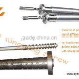 HDPE blow molding extruder screw/blow molding machinery/screw&barrel for film blowing plastic & rubber machinery parts