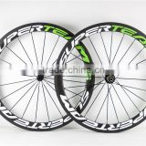 Wholesale Chinese carbon wheelset 50mm clincher carbon wheels 100% T700C carbon road bike carbon wheel