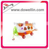 2012 Hot sales baby toys bo Plane pull music (with blocks)