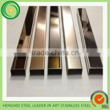 Stainless Steel U Channels with Mirror Finish