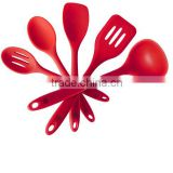 colorful 5pcs Silicone Kitchen Utensil Set with stainless steel inside five start quality