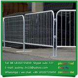 Wholesale steel tube collapsible traffic barricade portable french barrier for sporting events