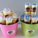 push pop cake holder Plastic push pops cake mould ice cream container