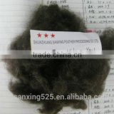 NEW REASON!!! fine black wool waste, 30-32mic, 30-45mm,natural dark brown color, to make yarn, felt etc