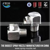 CYCO Brass/SS Corner Nozzle, Factory Direct Metal Hollow Nozzle, Gas Washing Spray Nozzle