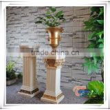 Europe Style Pillar /Roman Column /Wedding Road /Fiberglass Pedestal /Flower Pot With Stand