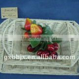 Rectangle rattan iron frame storage fruit tray