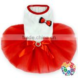 Red New Style Pet Dog Coat Wholesale Supply Dog Tutu Dress Hot Sale Clothes Vogue Pretty Pet Dog Dress
