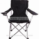 BLACK 600D POLYESTER/STEEL BEACH CHAIR