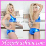 Factory Wholesale Hot Fashion Blue Sexy Girl Night Club Wear