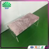 Romantic Acrylic Pink Sofa Restaurant Sofa Bench Waiting Room Bench