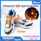 High Quality Nylon LED Shoe Laces - Party Led Flashing Cheerful Lighting Shoelace - Light Up Orange Glowing LED Shoelaces