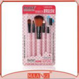 MAANGE 5 piece kabuki cosmetic brush set with synthetic hair