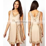 2013 women summer casual maternity clothing wholesale with bead embellishment sleeveless made in China OEM