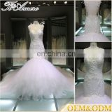 High quality mermaid wedding dress Latest design women sequin gown mermaid strapless