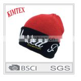 custom acrylic fashion Plain 3D Embroidery winter hat
