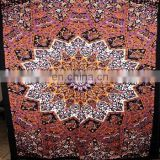 Indian mandala tapestry twin size cotton bedspread indian bedsheet RR