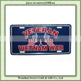 advertising american size metal reflective licence plate