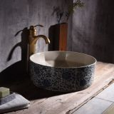 Chinese manufacturers bathroom round shape ceramic wash basin with high quality