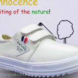 2018 SPRING children\'s shoes, new style – waterproof/ wear/ flat/ student/ sweet white