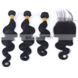 virgin peruvian hair bundle with closure
