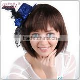 beauty blue mini top hats party hat for adult girls