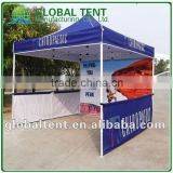Custom Print Aluminum Folding Pagoda Tent 3x3m ( 10ft X 10 ft), printed canopy & valance, back wall&2 half side wall