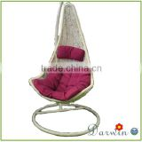 Cheap Outdoor Hanging Egg Chair with Stand and Cushion DW-H028