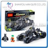 Mini Qute DECOOL Marvel Avenger super hero Batman chariot battle building block action figure educational toy NO.7105