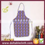 Anti oil Waterproof Printed plastic Bib kitchen Aprons pvc apron