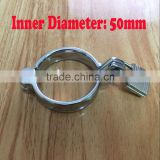 Wholesale metal cock ring with lock, Alloy penis erection helper, Inner D: 50mm Male sex toys, adult product