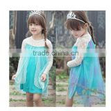 Instyles fashion Cheap wholesale cheap Wholesale child dress elsa frozen dress for girls white lace knee length