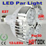 led Par30 light with 12*1w lights