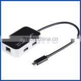 Reversible Type C USB 3.1 TO RJ45 Gigabit Ethernet 10/100/1000 Converter with 2 USB 3.0 and TF/SD card reader