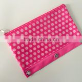 Osini profesional customed 3-ring binder pvc Polka Dot with Zipper Pouch, Zipper Pencil Bag for Pen