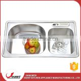 Top quality China topmount stainless steel double bowl philippines kitchen sink