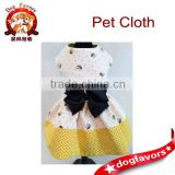 2014 New Style cute Summer pet clothesThe BEES have it Adorable Ruffled Bumble Bee and Polka Dot Dog Dress by Princess