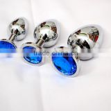 Blue diamond Novel Stainless Steel Jewelry Anal Plug adult sex toy
